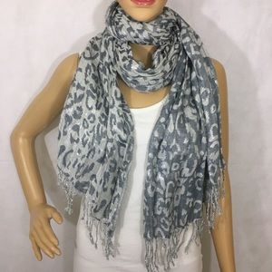 Shimmery Leopard Print Scarf